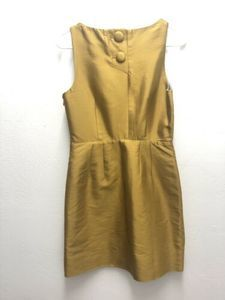 Anthropologie Dresses - Anthro MAEVE 4 Bow Cut Out Chardonnay Sheen Dress